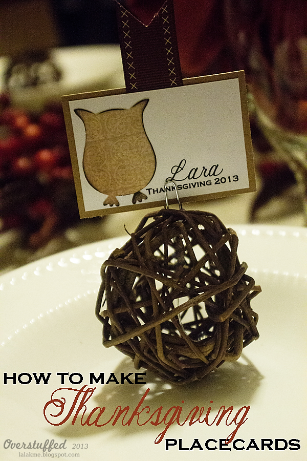 Simple and elegant Thanksgiving placecards to put the final touches on your Thanksgiving table.