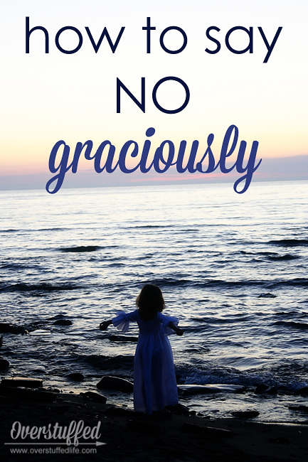How to say no without feeling guilty.