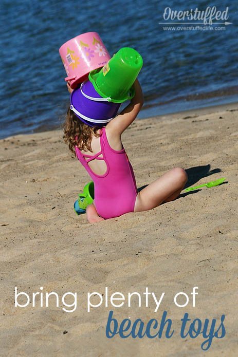Make your beach day maximum fun by bringing enough beach toys to keep everyone entertained
