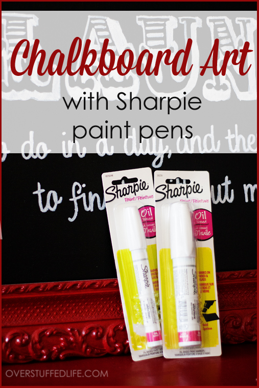 DIY Tutorial: How to make faux chalkboard art on canvas with paint pens.