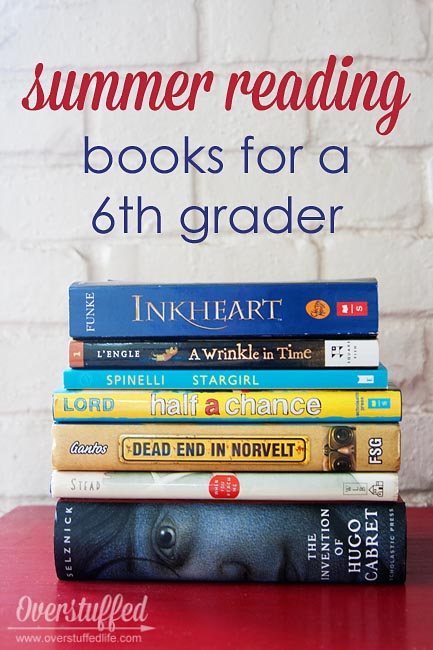 Summer reading books that are age appropriate for a 6th grader