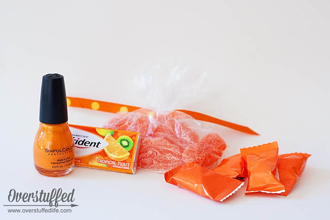 Use fun orange products to make an Orange You Glad It's Summer teacher appreciation gift.