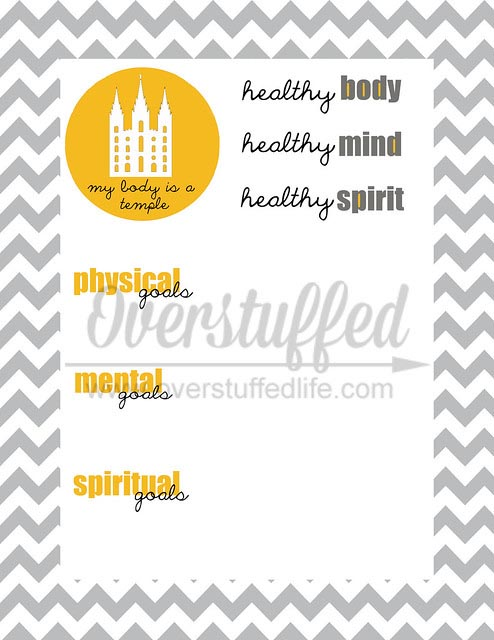 My Body is a Temple Goal Worksheet-kick off summer by making goals with your children.