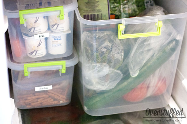 An easy solution for saving money and limiting snacking during the summer. Works for the fridge or the pantry!