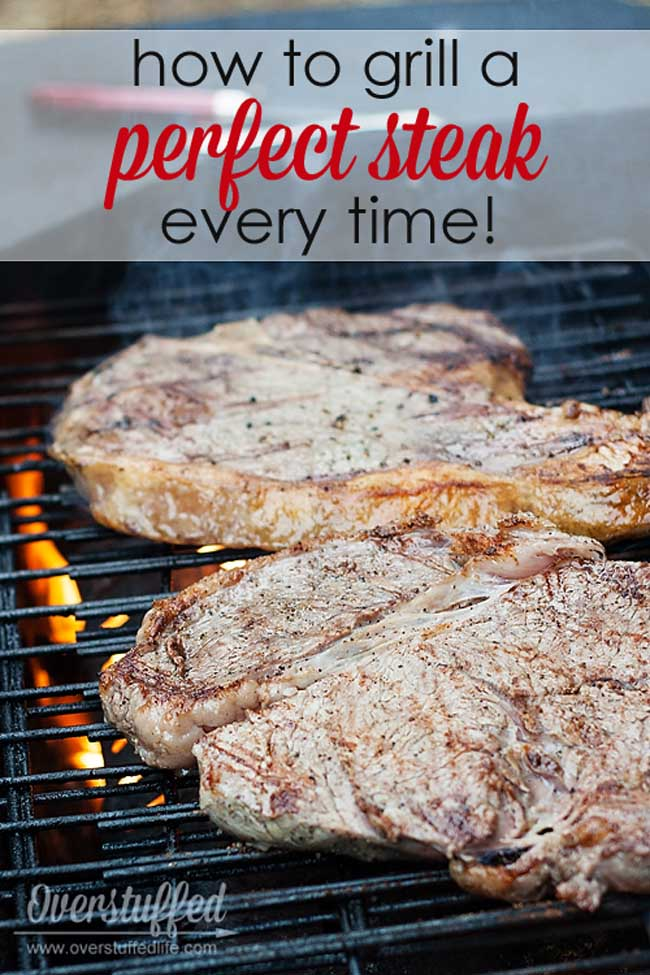 How to Grill a Perfect Steak Every Time! It's so much easier than you might think--no fancy marinades or sauces, just a juicy, tender steak that everyone will love!