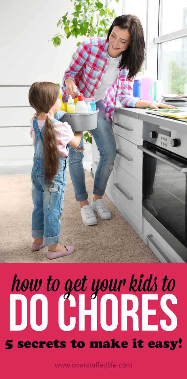 Do you have trouble getting your kids to do chores? Here are five simple tips that will have them helping with the housework in no time.