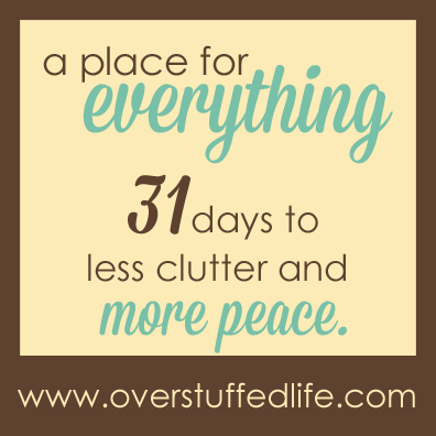 A 31 Day challenge designed to help you get rid of the clutter in your life once and for all.