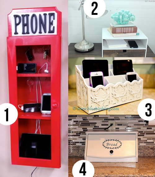 4 ideas for DIY electronics charging stations.