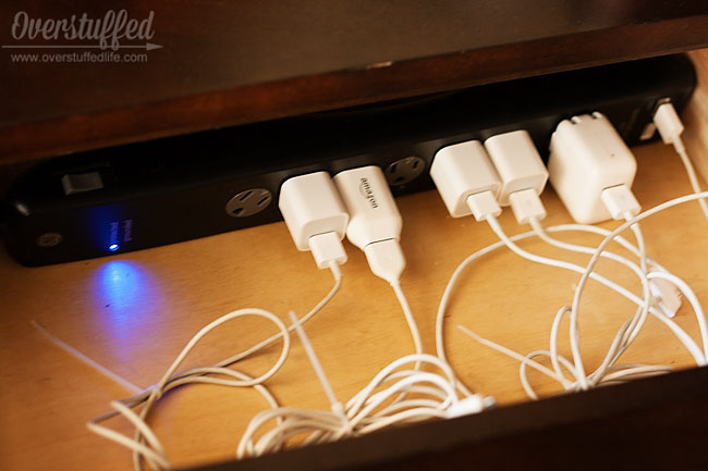 Easy Diy Charging Station Overstuffed Life