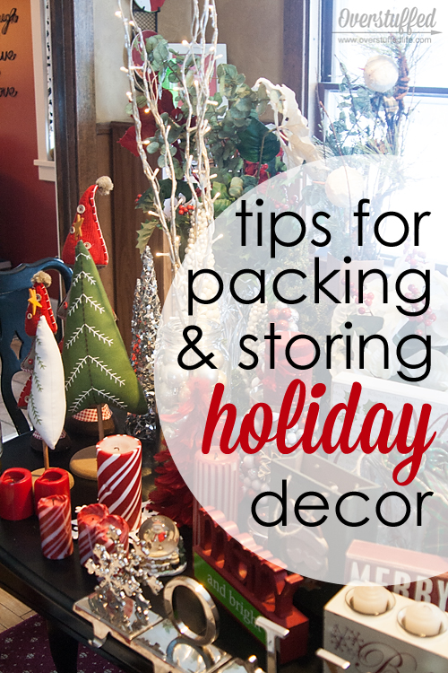 Taking down Christmas is nowhere near as fun as putting it up, but it has to be done! Here are some great tips for keeping it organized so you can store it away for next year.