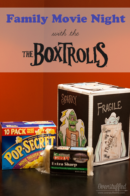 Enjoy a movie night with your kids, The Boxtrolls, and white cheddar popcorn. Plus a fun game to play while watching the movie.