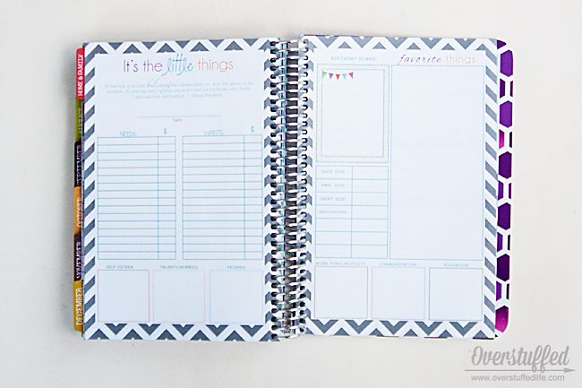 The Mom on the Go planner has several birthday planning pages.
