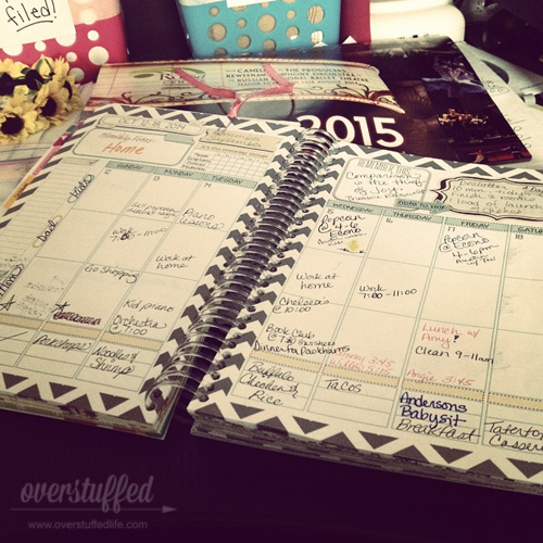 A Mom on the Go planner helps keep your life on schedule.