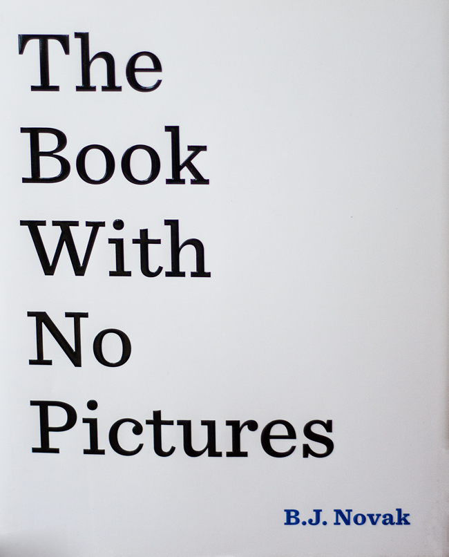 The Book With No Pictures may not have any actual pictures, but it is so much fun to read aloud! Your kids will love listening to the funny things you have to say while reading!