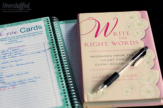 Using a book designed to help you find the best words in your thank you notes is so helpful and helps keep your thank you cards personal, thoughtful, and delightful.