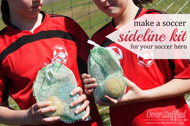 Easy mesh snack kit for your little soccer stars!
