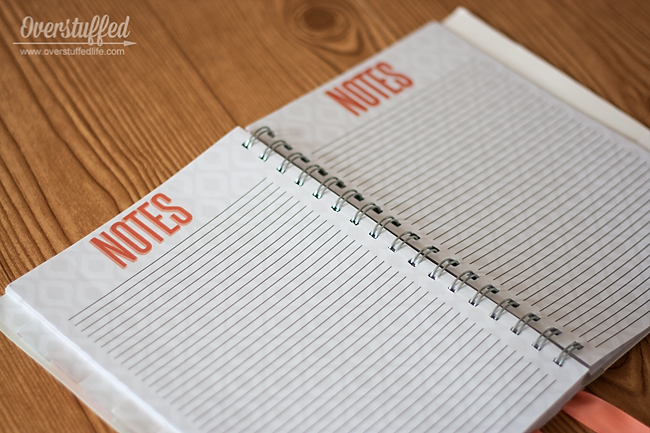 The Home Executive Planner: Notes