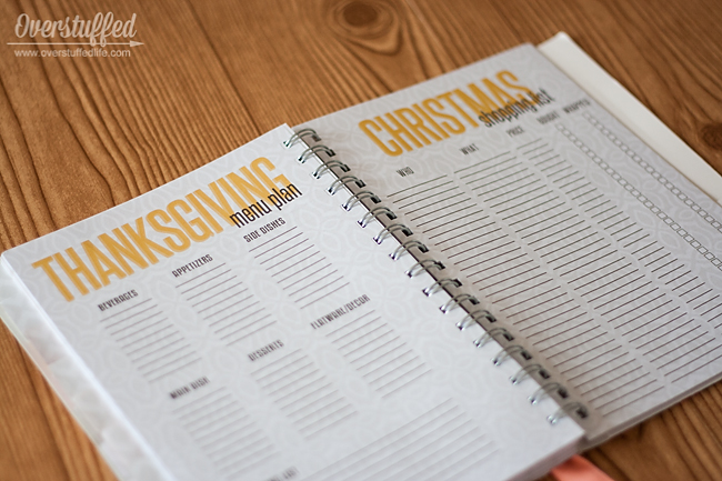 The Home Executive Planner: Thanksgiving and Christmas Pages