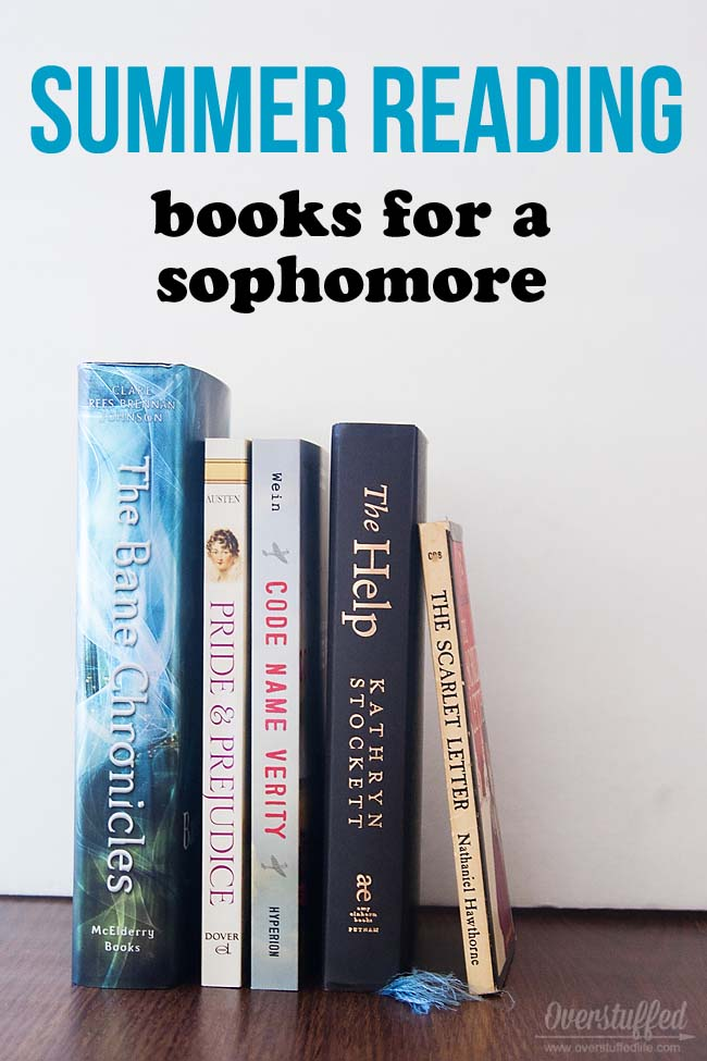 Reading over the summer helps prevent summer learning loss. A list of age-appropriate books for a teen who will be a sophomore in high school in the fall.