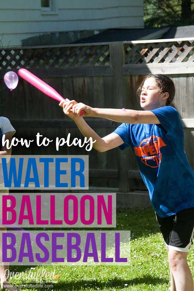 Looking for a fun and frugal summer activity? Try water balloon baseball in the backyard--the kids will love it, and it's cheap and easy!