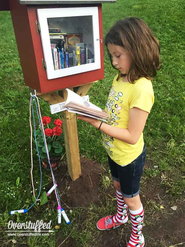 Set up your own little free library in your yard or at a park!