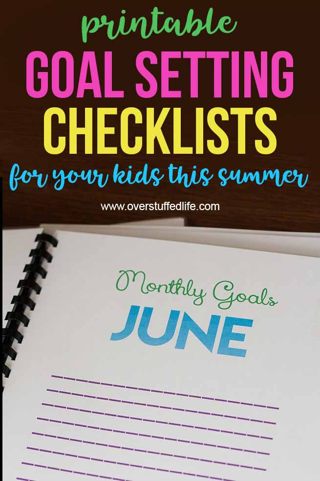Limit electronic usage this summer by using a fun printable workbook that helps your kids read, exercise, practice, and do jobs before they look at screens. Also helps them with goal setting for the summer. #overstuffedlife