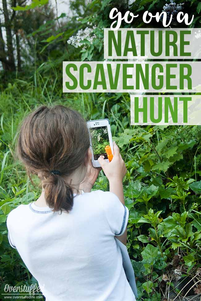 Get your kids out of the house and take them on a NATURE SCAVENGER HUNT. It's a great way to get out in nature, get some exercise, and develop their creativity this summer.
