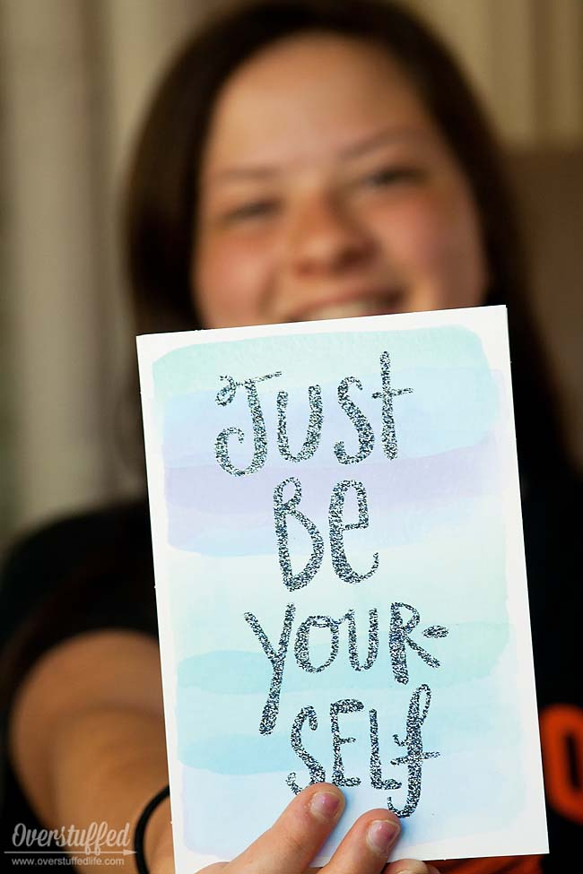 Sadie Robertson Live Original greeting cards encourage teen girls to be themselves.