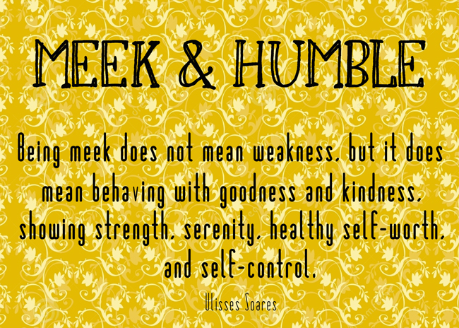 Printable Visiting Teaching Handout for August 2015 message. The Divine Attributes of Jesus Christ: Meek and Humble. #overstuffedlife