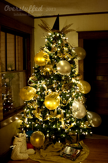 Redecorate your Christmas Tree for a New Year's celebrations! #overstuffedlife