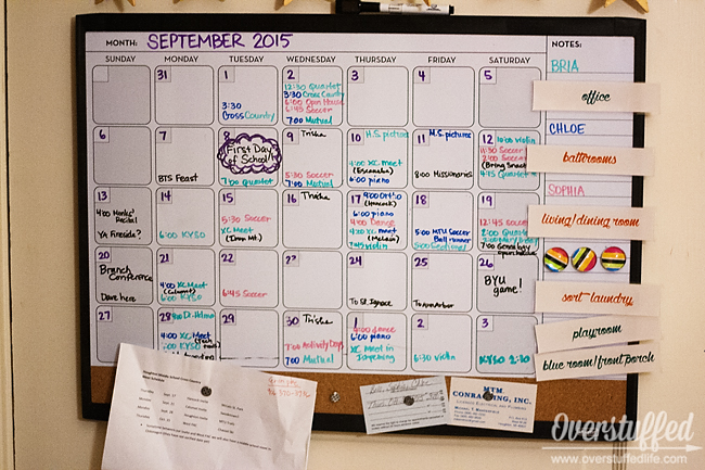 Using a family calendar will make your home more relaxed and happier when everyone knows their schedules!