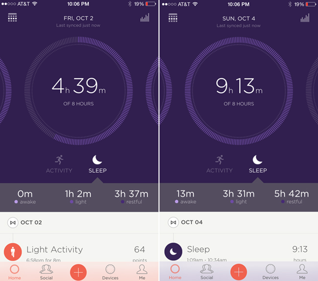 Use a Misfit Shine to track your sleep and activity.