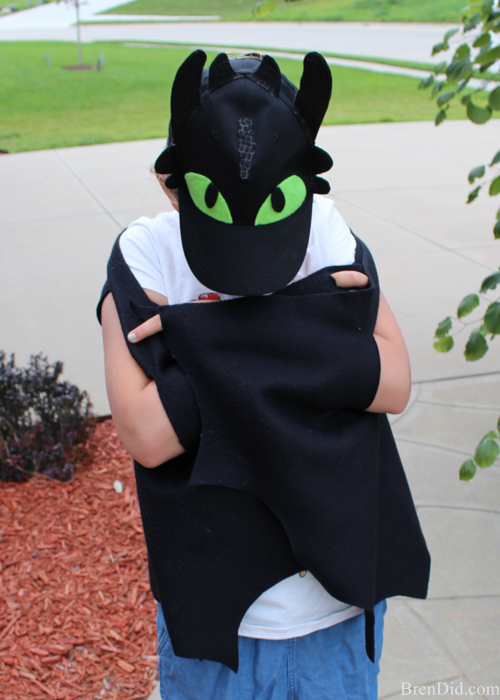 No sew dragon costume
