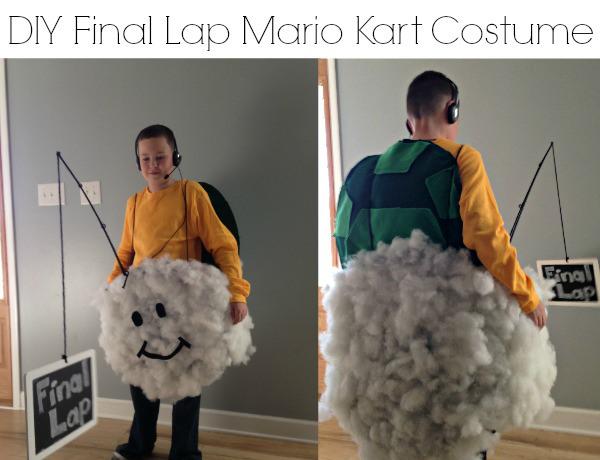 No sew Mario Kart costume.