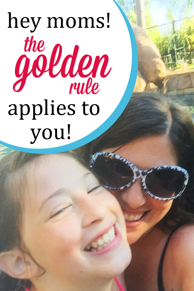 Sometimes we moms need to step back and look at the way we are treating our children. The golden rule is a good place to start. #overstuffedlife