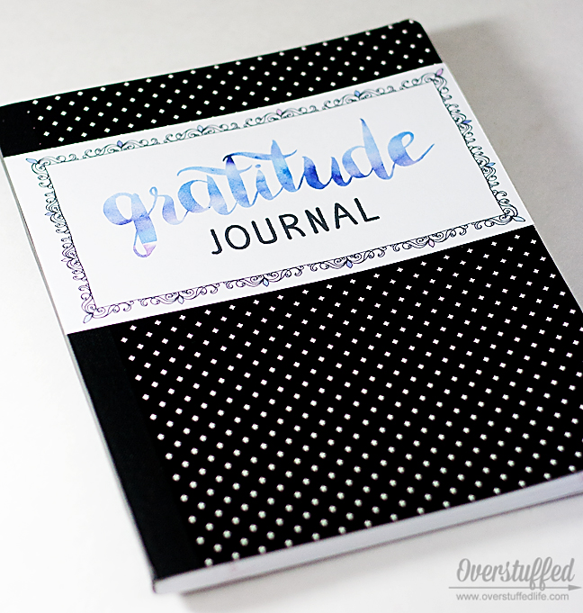 Make an easy and inexpensive gratitude journal with this free printable.