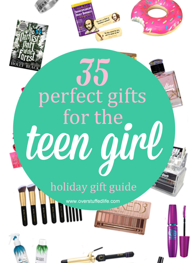 Looking for the perfect gift for the teenage girl in your life? You're sure to find something she will love on this list, written by a teen girl! #overstuffedlife
