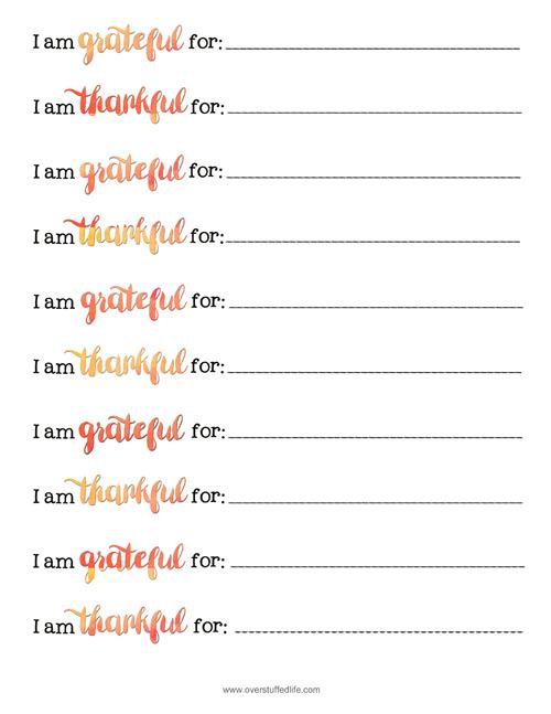 Thankful Jar free printable gratitude strips.