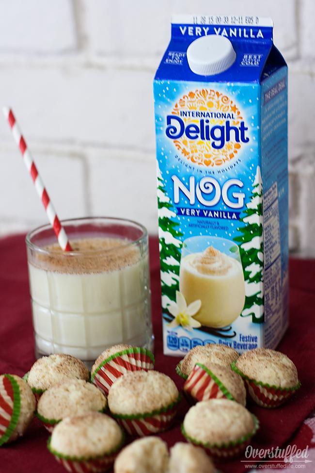 Make this eggnog mini muffin recipe using International Delight very vanilla nog.