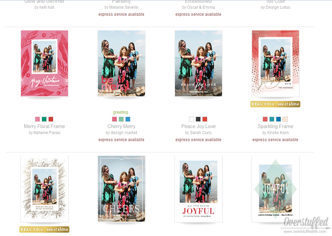 Minted.com makes designing and ordering your card super easy!
