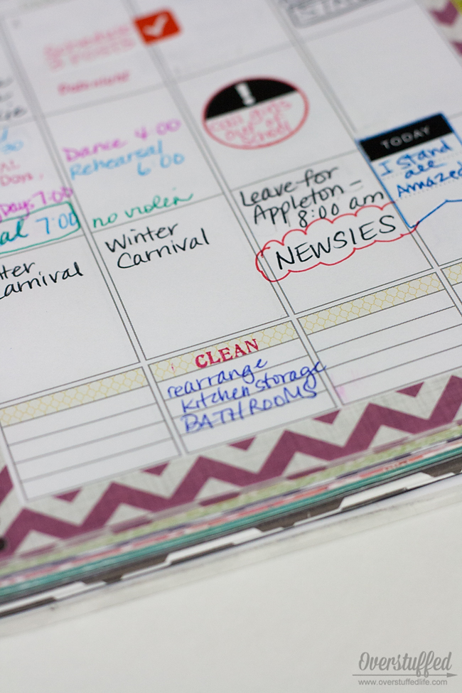 Use stamps, stickers, and other accessories in your paper planner to help you plan your life more effectively.