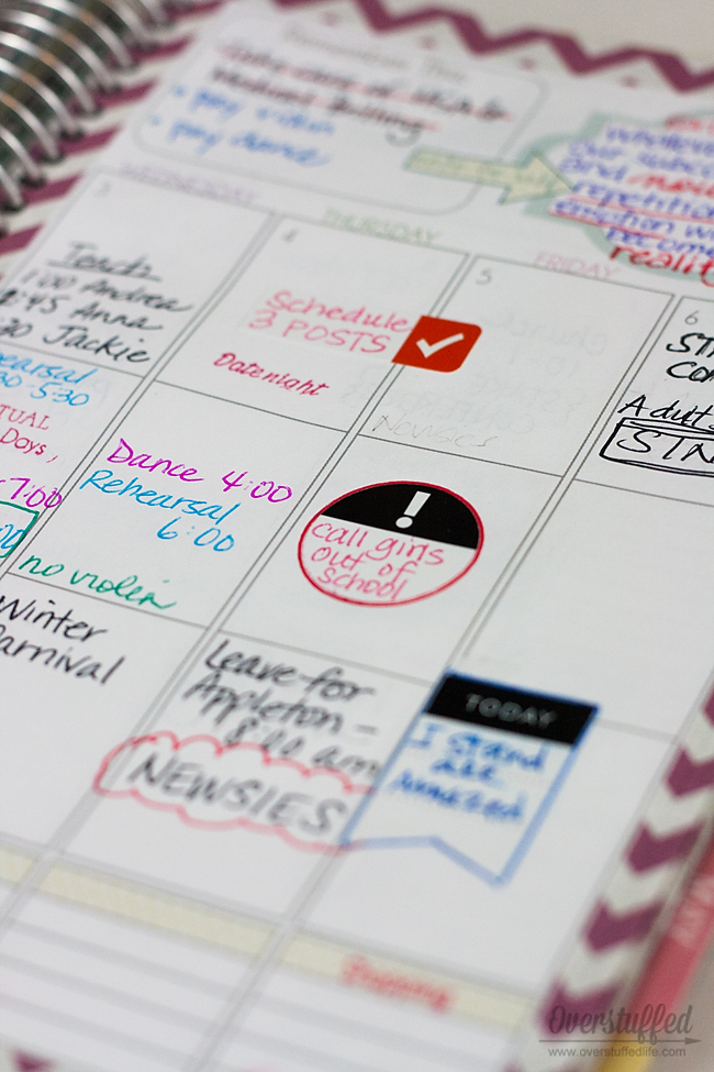 How to use stickers, color coding, and other accessories in your planner. #overstuffedlife