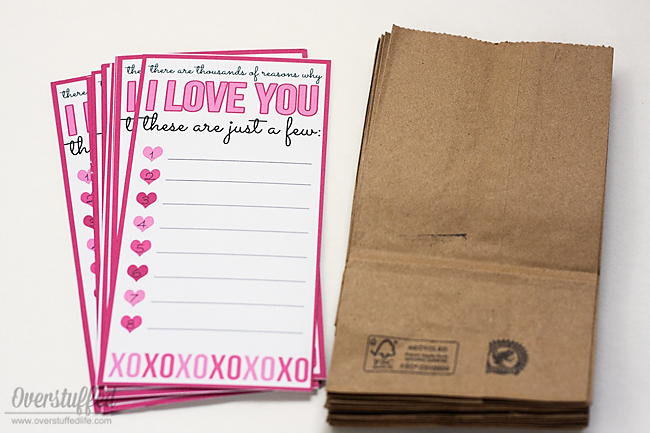 Pair this printable with mini paper bags to send a sweet treat to your sweetie this Valentine's Day.