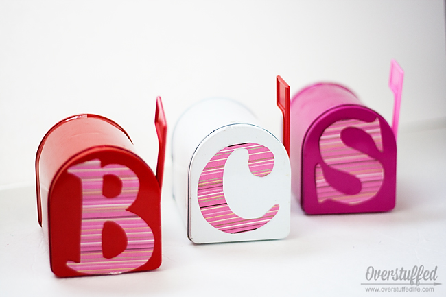 Make Valentine's Day mailboxes a fun tradition with your kids. Leave a little treat in them every day of February leading up to Valentine's Day.