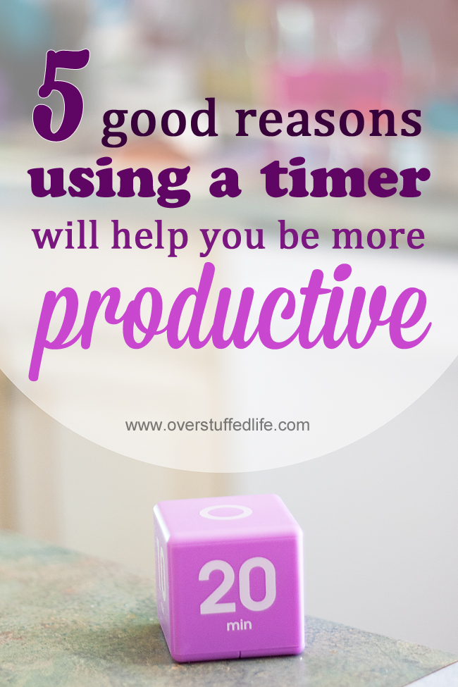 Timers can increase your productivity and efficiency.