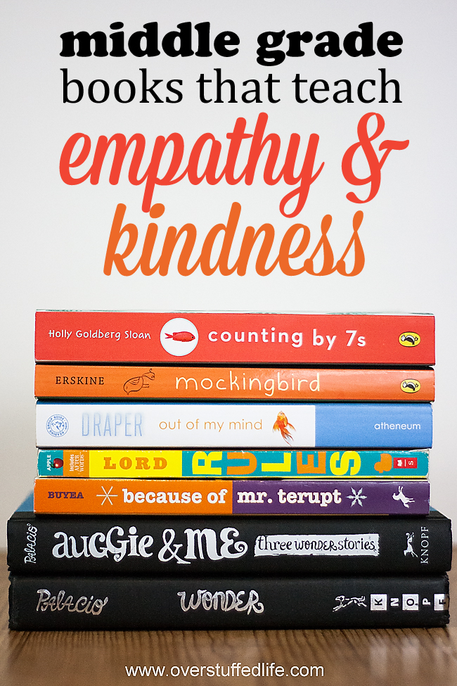 Books for middle grade readers that will teach kindness and empathy.