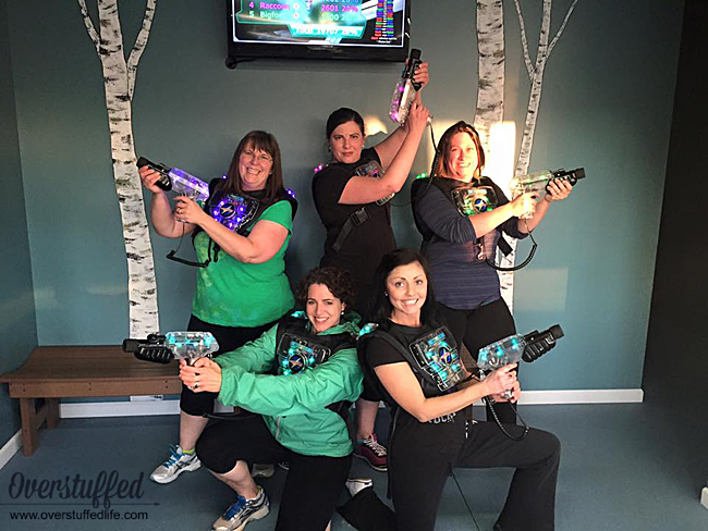 The most fun you'll have on your girl's getaway is by doing something totally crazy! Try laser tag—you'll be surprised how much you love it!