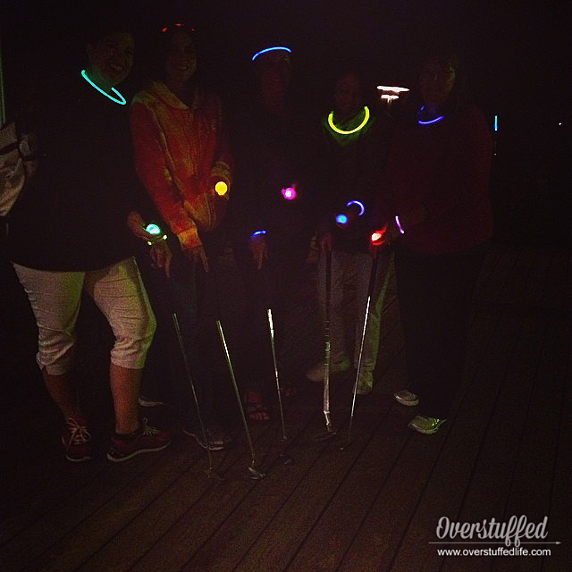 Let loose and have fun on your girls' trip by doing something crazy like glow in the dark mini golf!