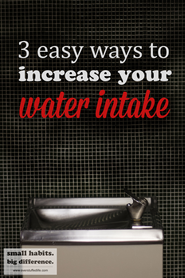 Not drinking enough water? Here are 3 super easy ways to increase your water intake—you'll be surprised at how easy it is to reach your daily water intake goal!