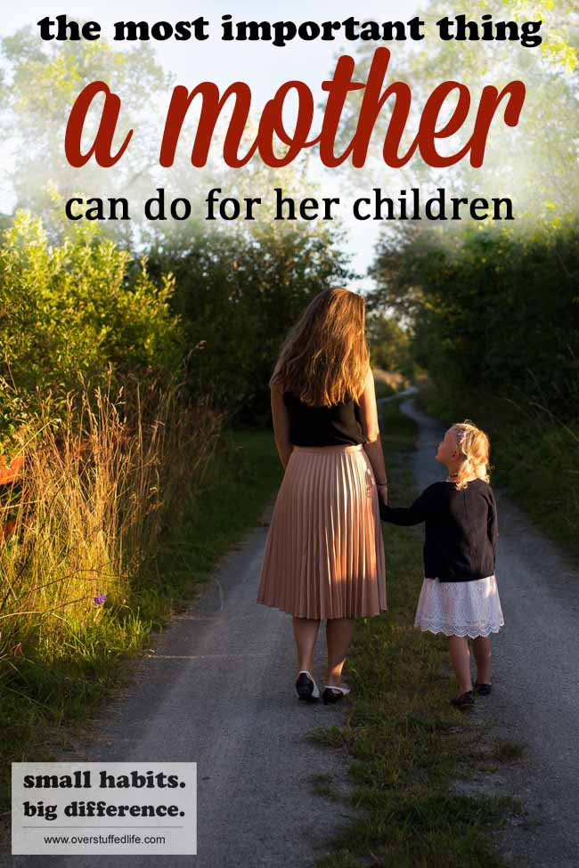 When it comes to being a mother, there are plenty of good and important things to do each day. But don't let the day pass without spending individual time with each child.